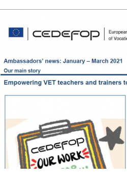 The Orienta4YEL activities in Spain highlighted in the Ambassadors' news of CEDEFOP (January – March 2021)