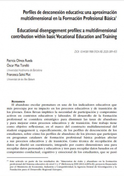 Educational disengagement profiles: a multidimensional contribution within basic Vocational Education and Training