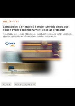 Estrategias de orientación y acción tutorial: herramientas que pueden evitar el abandono escolar temprano